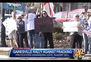 Gainesville rallying against fracking