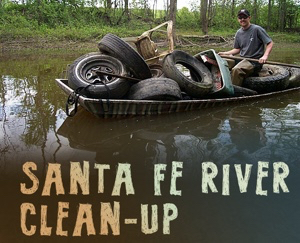 Santa Fe River Cleanup, Tuesday, May 19th - 9:00am