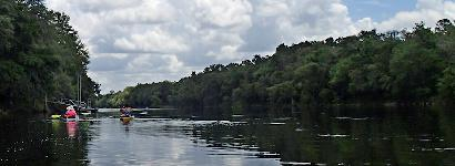 Kayaking down Suwannee River